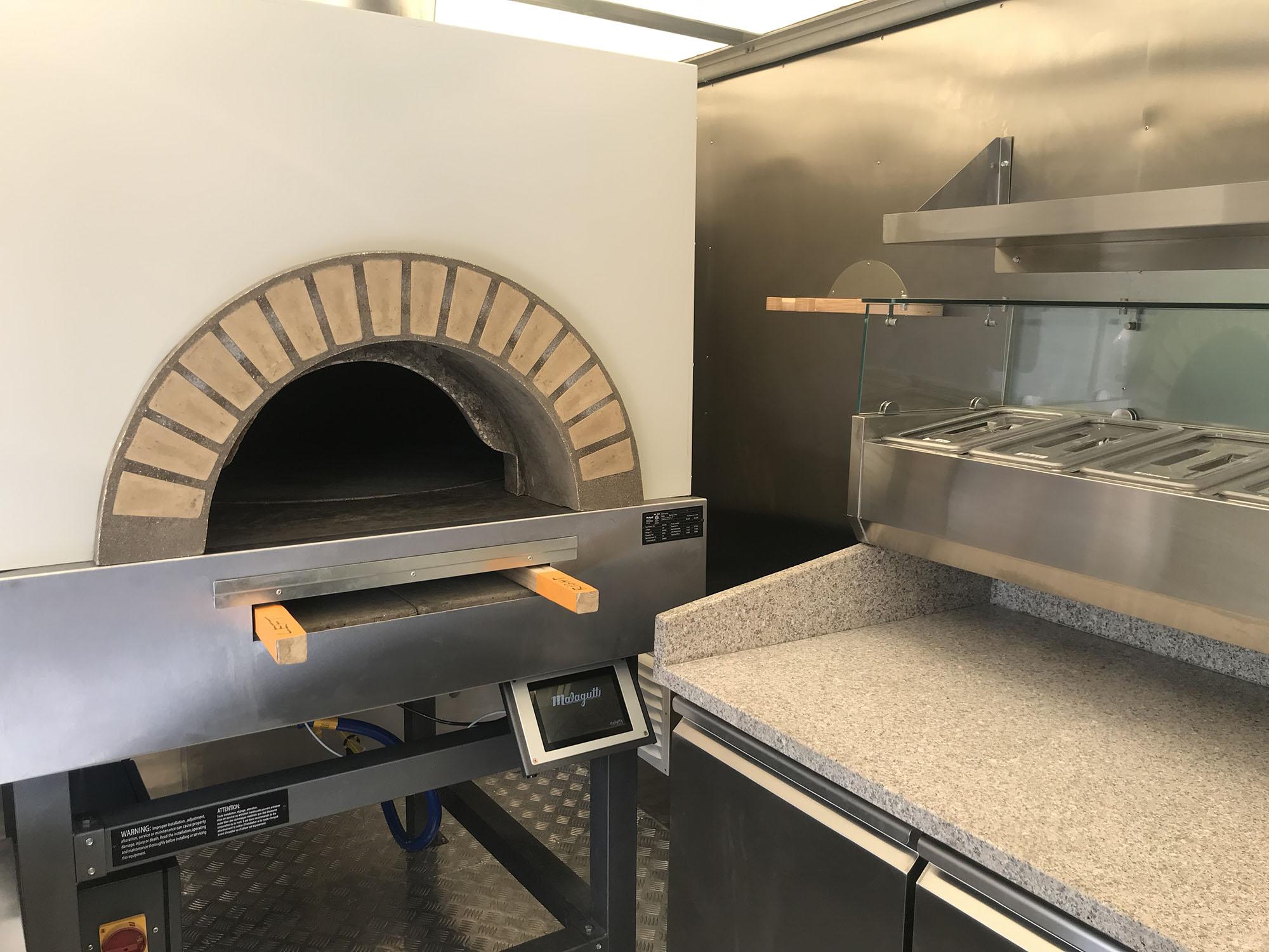 Brick Oven Pizza Truck Interior